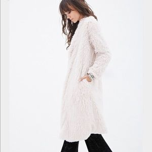 Urban Outfitters Faux Shaggy Fur Duster Maxi Coat